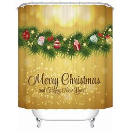 Elaborate Design Brisk Christmas Presents Tree Printing 3D Shower Curtain
