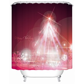 Fantastic Charming Unique Design Christmas Celebrating View 3D Shower Curtain