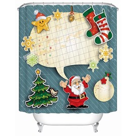 Fashion Adorable Happy Christmas Party Printing 3D Shower Curtain