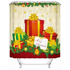 Wonderful Fabulous Festive Christmas Presents Printing 3D Shower Curtain