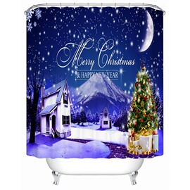 Stunning Unique Dreamlike Christmas Night Shower Curtain