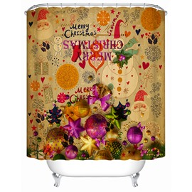 Wonderful Fabulous Unique Design Brisk Christmas Party Shower Curtain