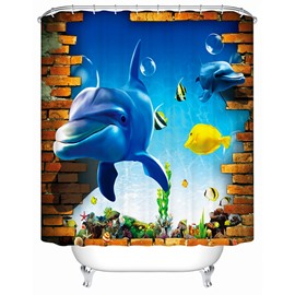 Brisk Dynamic Underwater World 3D Shower Curtain
