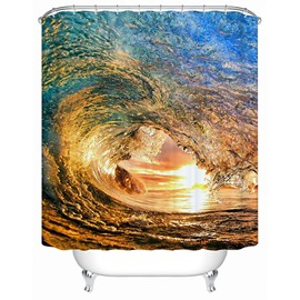 Artistic Glamorous Colorful Tide View 3D Shower Curtain