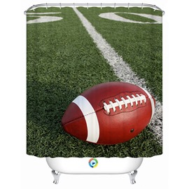 Modern Fashion Rugby in the Football Pitch 3D Shower Curtain