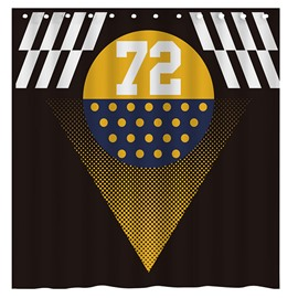 Modern Concise Number 72 3D Shower Curtain