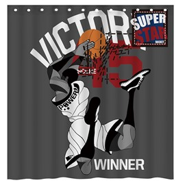 Faddish Supper Star Basketball Player 3D Shower Curtain