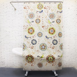 Chinoiserie Unique Flower and Birds Shower Curtain