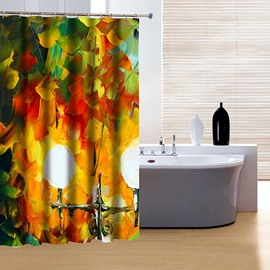 Artistic Unique Oiling Painting 3D Shower Curtain