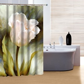 High Class Graceful Pink Flower 3D Shower Curtain