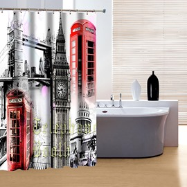 Fashion Modern Classic Big Ben Print 3D Shower Curtain