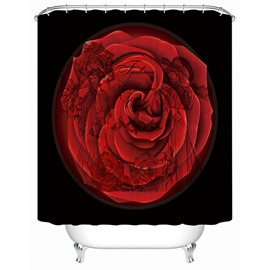Unique Design Big Rose and Court Ladies Watermark 3D Shower Curtain
