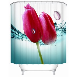 Vivid Fresh Flower Buds 3D Shower Curtain