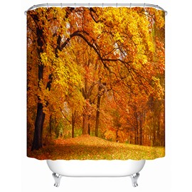 Attractive Beautiful Autumn Scenery 3D Shower Curtain