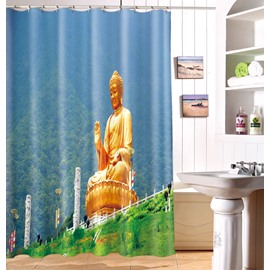 High Quality Peaceful Solemn Joss 3D Shower Curtain
