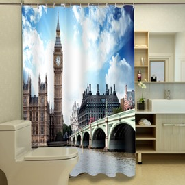 Glamorous Westminster Bridge Pattern 3D Shower Curtain