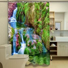 Durable Picturesque Scenery 3D Bathroom Shower Curtain