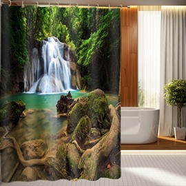 Top Grade Beautiful Waterfall Print 3D Shower Curtain