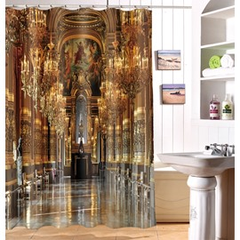 3D Royal Church Printed Polyester Bathroom Shower Curtain