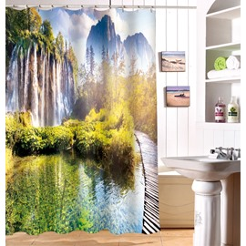 Beautiful Natural Scenery 100% Polyester 3D Shower Curtain