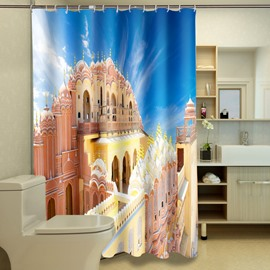 Fabulous Notable Castle Print 100% Polyester 3D Shower Curtain