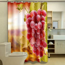 Super Fresh Ripe Grapes Polyester 3D Shower Curtain