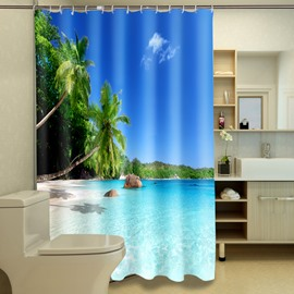 High Class Unique Beautiful Harbor 3D Shower Curtain