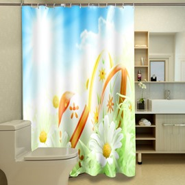 Fresh American Style Lovely Floret 3D Shower Curtain