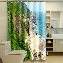 Magnificent Fabulous Charming Harbor 3D Bathroom Shower Curtain