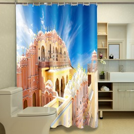 Noble Classical Castle 100% Polyester 3D Shower Curtains