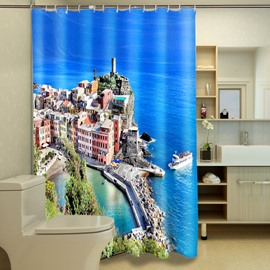Glamorous Seaside City Pattern 3D Shower Curtain