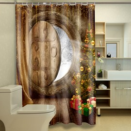 New Arrival Cozy Room And Beautiful Christmas Tree 3D Shower Curtains