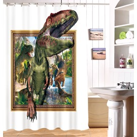 High Quality Unique Dinosaur Print 3D Shower Curtain