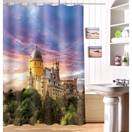 Popular Decorative Beautiful Castle 3D Shower Curtain