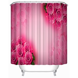 Lovely Pink Roese Print 3D Shower Curtain