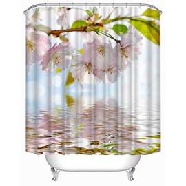 Beautiful Pink Blooming Peach Print 3D Shower Curtain