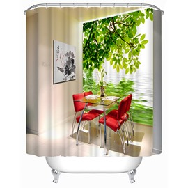 Debonaire Dining Room Print 3D Shower Curtain
