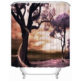 Romantic Love Trees Print 3D Shower Curtain