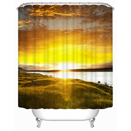 Seaside of the Setting Sun Print 3D Shower Curtain