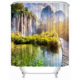 Landscape of Lakes and Hills Print 3D Shower Curtain