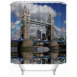 High-Class Tower Bridge Print 3D Shower Curtain