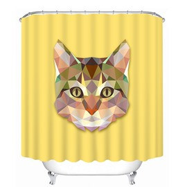 Creative Design Cat Print 3D Bathroom Shower Curtain