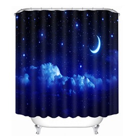 A Tranquil Night Printing 3D Bathroom Shower Curtain