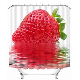 Delicious Fresh Strawberry Print 3D Bathroom Shower Curtain