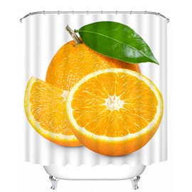 Delicious Fresh Orange Print 3D Bathroom Shower Curtain