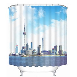 Shanghai Landscape in China Print 3D Bathroom Shower Curtain