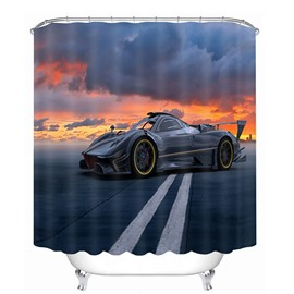 A Cool Black Sports Car Print 3D Bathroom Shower Curtain