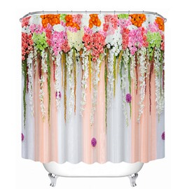 Intelligent Design Flowers Print 3D Bathroom Shower Curtain
