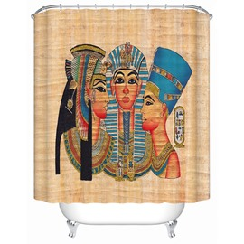 Egyptian Figures Painting Print 3D Bathroom Shower Curtain