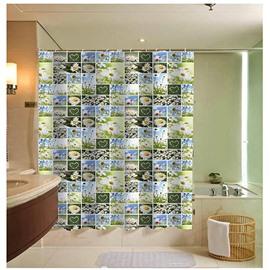 Various Chrysanthemum Collage Print 3D Bathroom Shower Curtain
